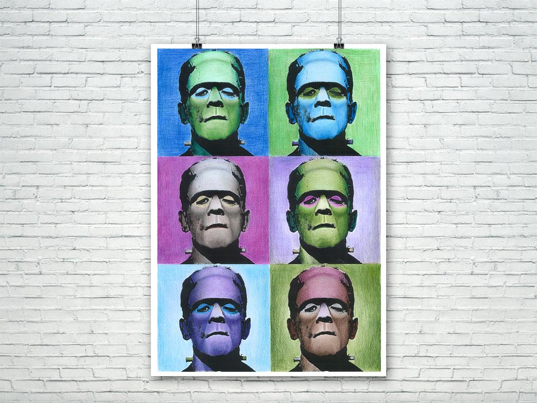 Poster de Frankenstein al estilo Warhol