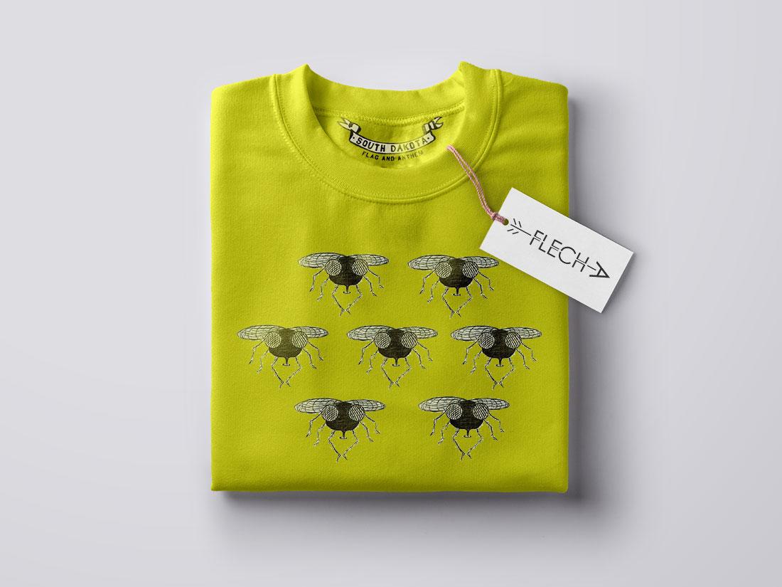 camiseta moscas diseño propio