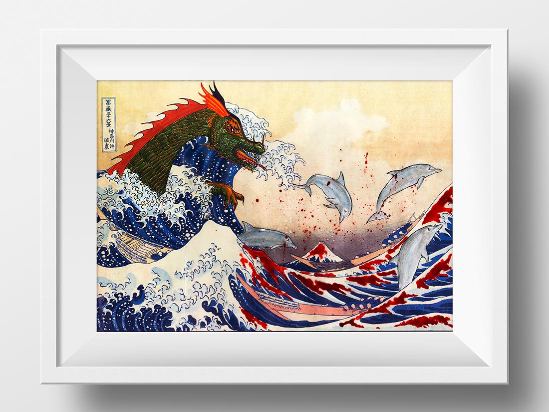 Interpretación personal de La gran ola de Kanagawa