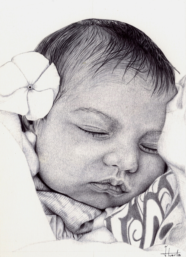 Baby ballpoint pen drawing